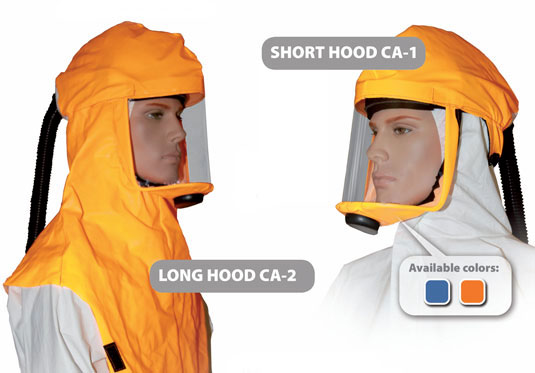 Clean Air Respirator Hoods CA1 and CA2