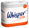WHISPER 320 Sheet Toilet Rolls